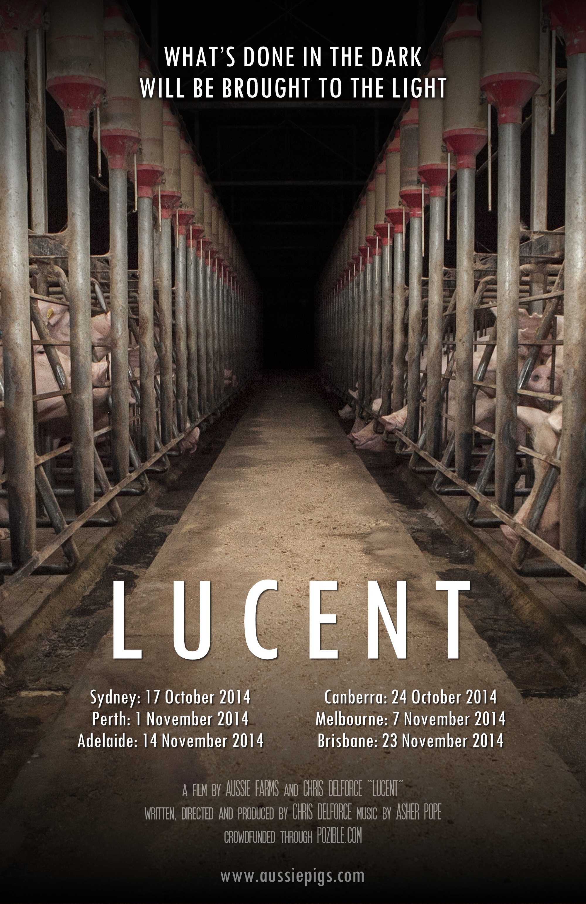 Lucent the documentary australian pig farming the inside story lucent poster 3 m4hsunfo